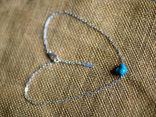 COLLIER TURQUOISE ARGENT