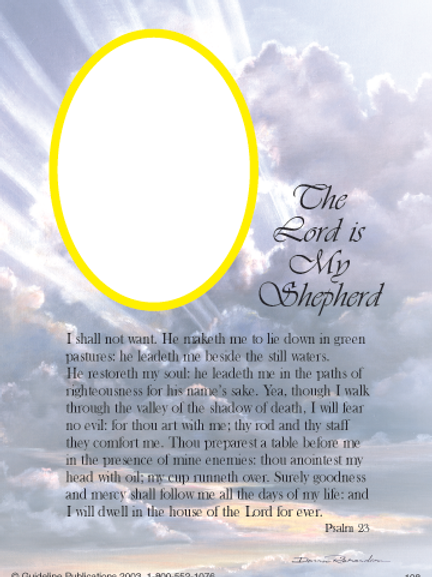 The Lord Is my Shepard 8x10