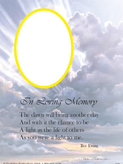 In loving Memory 8x10
