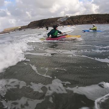 Surf Kayaking in Bude