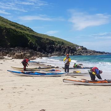 Sea Kayaking beach stop