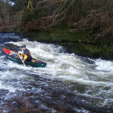 Open canoeing on the Dart