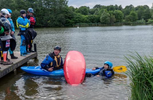 Kayak rescue techniques