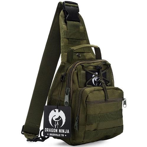 Dragon NInja Tactical Sling Bag Army Green