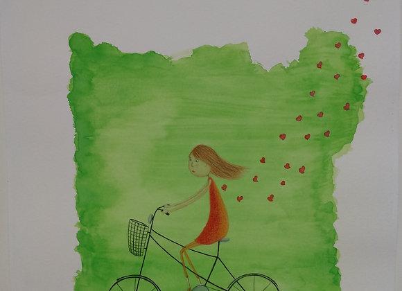 """Ilustração """"Bicicleta"""""""