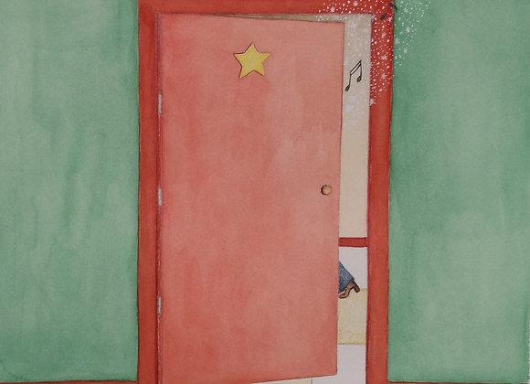 """Ilustração """"Atrás da Porta"""""""