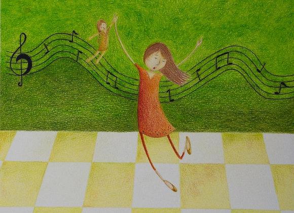 """Ilustração: """"Cantar e Dançar"""""""