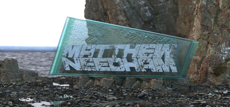 MATTHEW NEEDHAM studio backdrop logo 3D