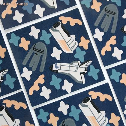 Mini planche stickers Space 2