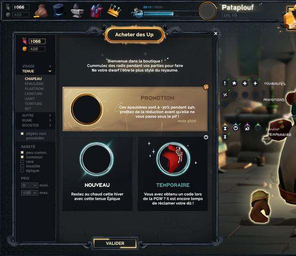 dwarf unexpected jeu vidéo UI Audrey Hess