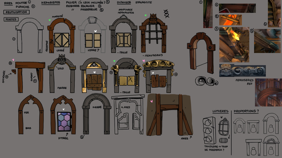 dwarf unexpected jeu vidéo concept art recherches DA hades