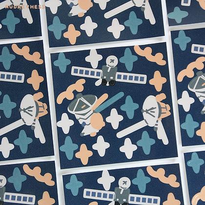 Mini planche stickers Space 1