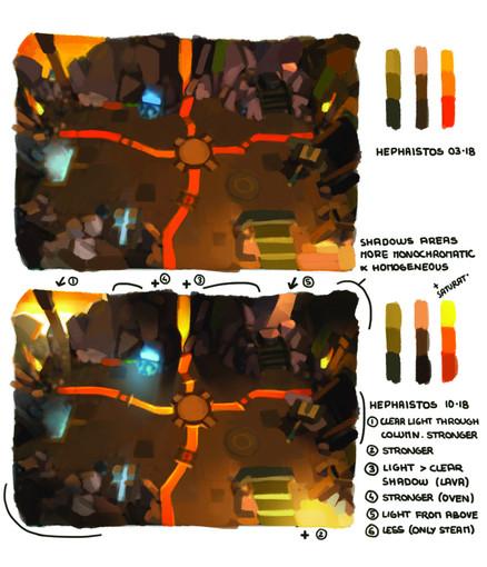 dwarf unexpected concept art lights color correction Audrey Hess