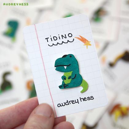 Pin's fait-main: tyrannosaure