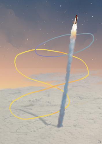illustration Audrey Hess space