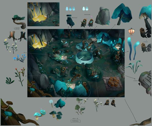 dwarf unexpected concept art dionysos lac Audrey Hess