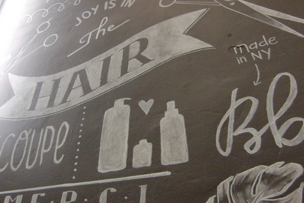 illustration Audrey Hess mural contact coiffure