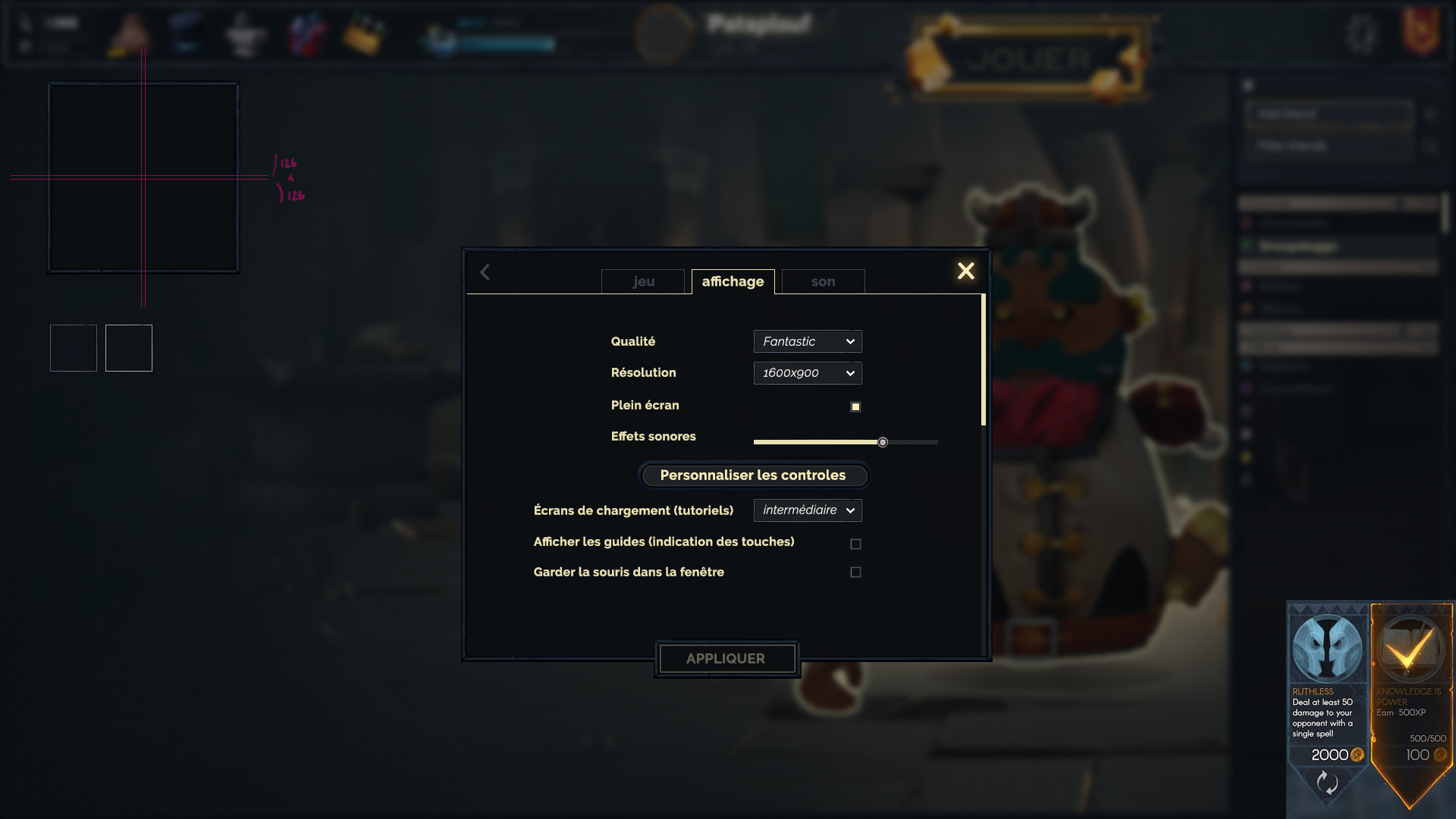 dwarf unexpected concept art UI menu settings Audrey Hess