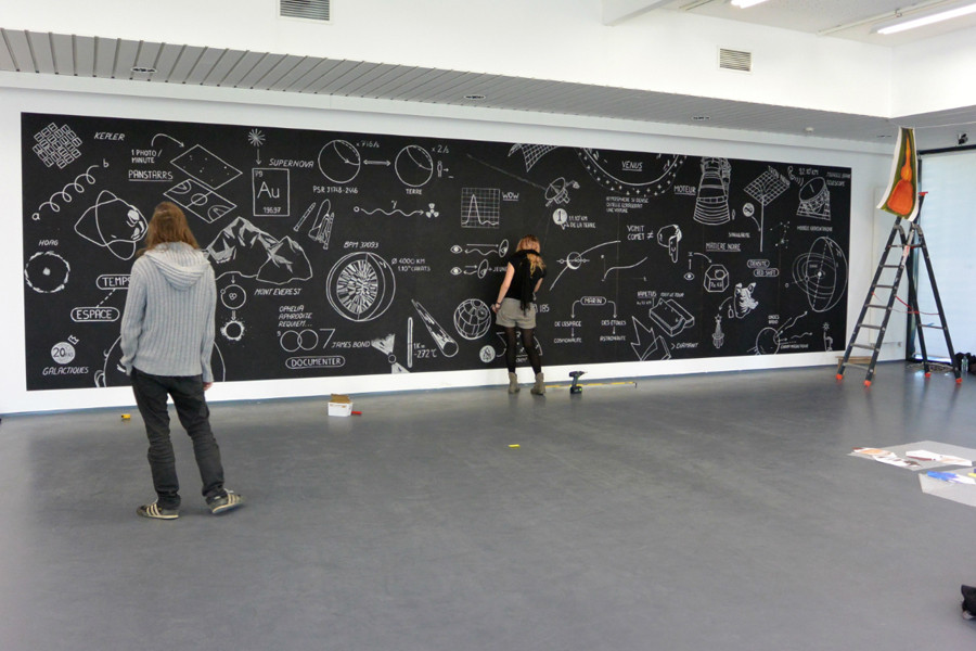 graphisme Audrey Hess animation art space spaceart linazay frac mural