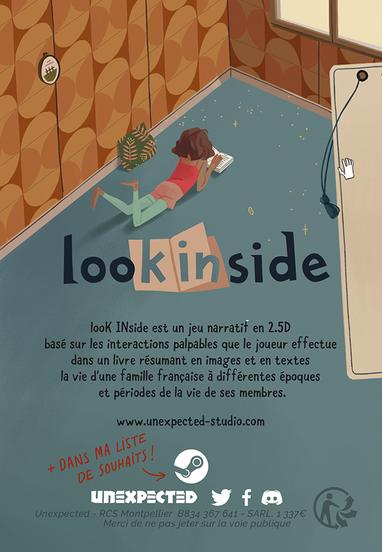 looK INside jeu vidéo unexpected flyer