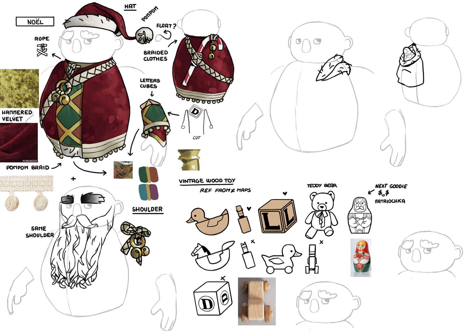 dwarf unexpected concept art character skin Audrey Hess