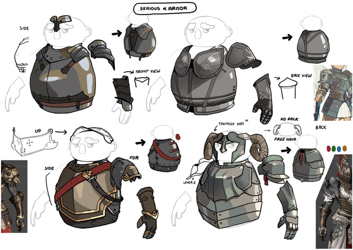 dwarf unexpected concept art character design skin Audrey Hess