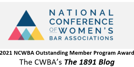 The 1891 - The National Conference of Women's Bar Associations' Outstanding Member Program Awardee