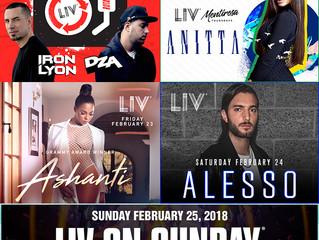 Liv line up feb. 21-25