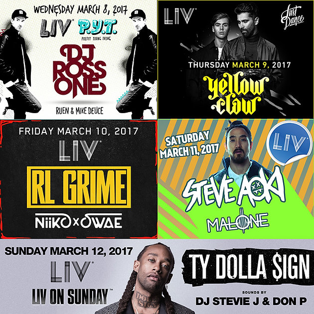 Tickets for Club LIV Events | Miami Nightclub Party Tours