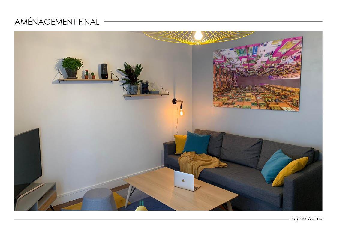 Aménagement salon 14,4m² aménagement final