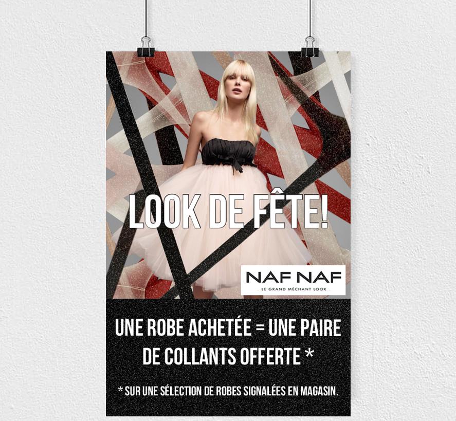 Affiche opération commerciale Naf Naf