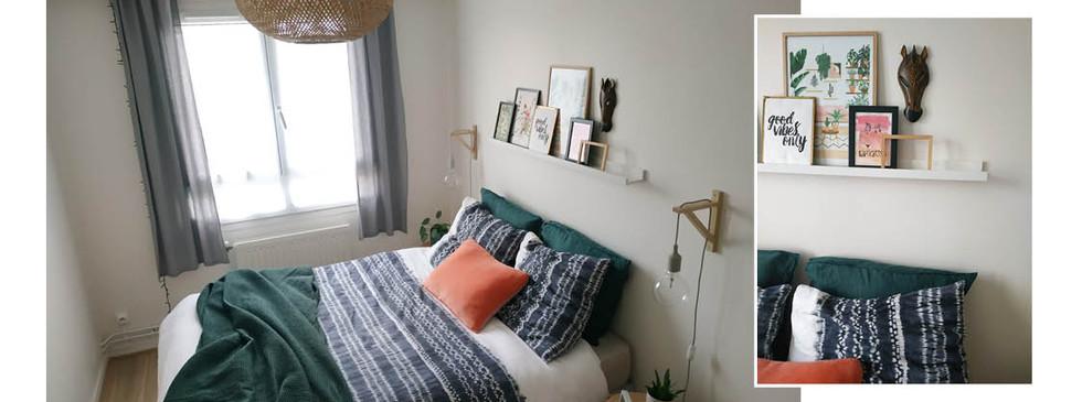 Home staging chambre aménagement final
