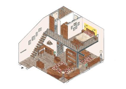 AMENAGEMENT STUDIO DE 52M²
