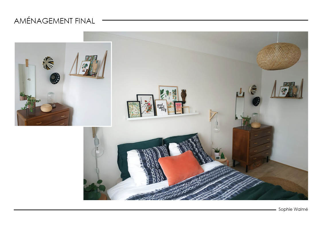 Home staging chambre aménagement final