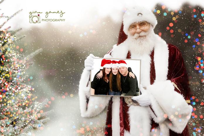 Christmas Santa with Frame