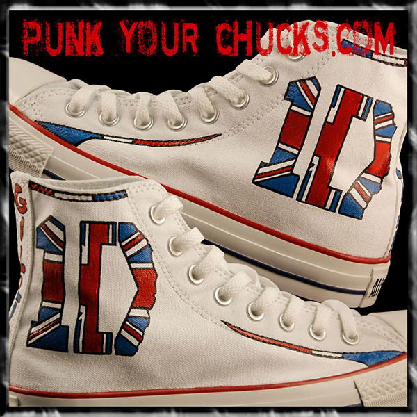1D band British Flag high Chucks MAIN
