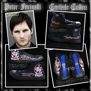 Peter Facinelli custom converse sneakers