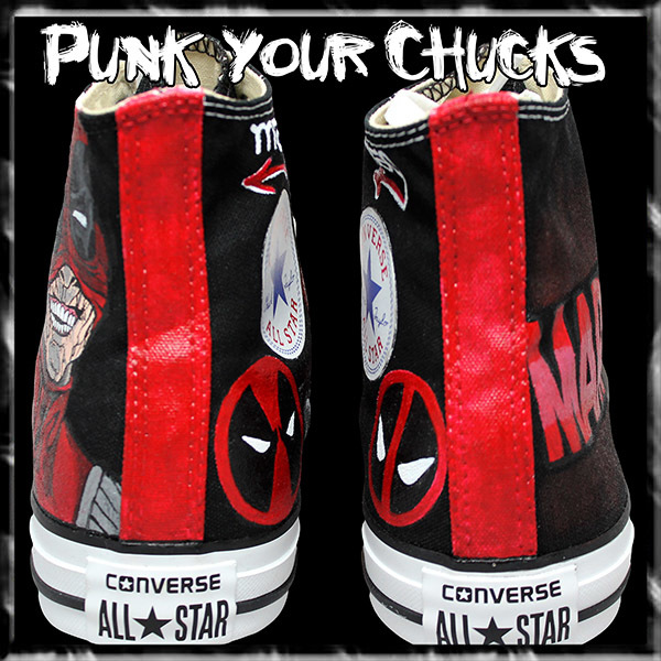 Deadpool Design 3 high chucks spines