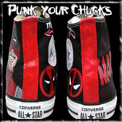 Deadpool Design 3 high chucks spines