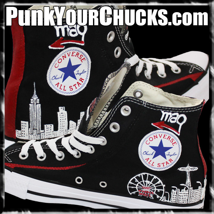 The Warriors High Chucks insides