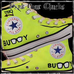 Buddy Holly high Chucks insides