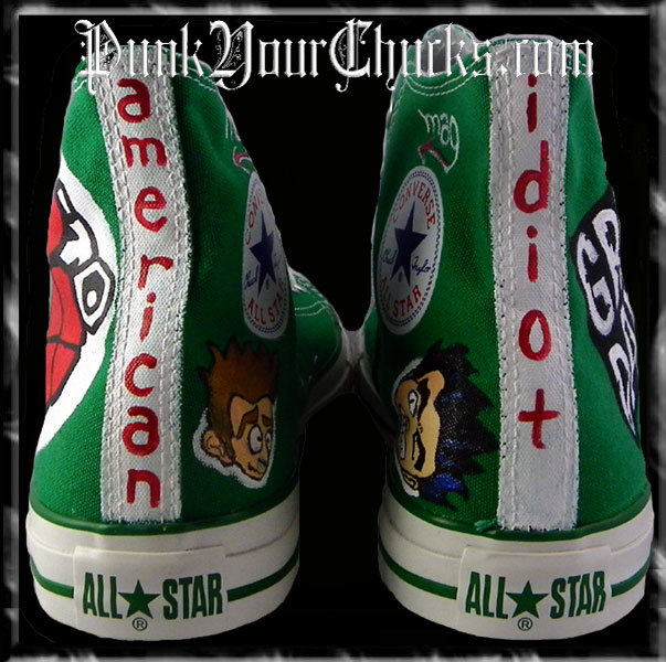 Green Day Heart Grenade high Chucks spin