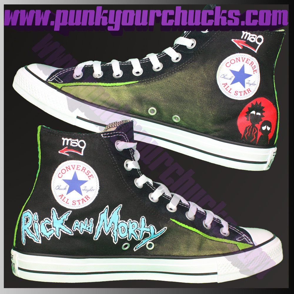 Rick and Morty high chucks insides