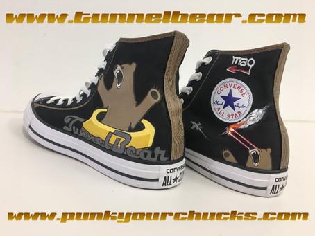 Custom TunnelBear Chuck Taylors