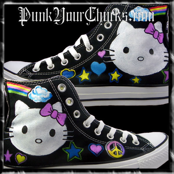 Hello Kitty High Chucks white face main