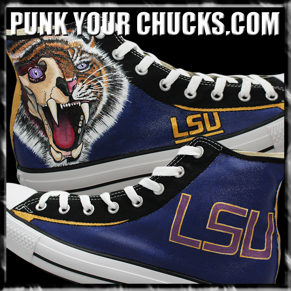 College Sports Teams LSU High Chucks mai
