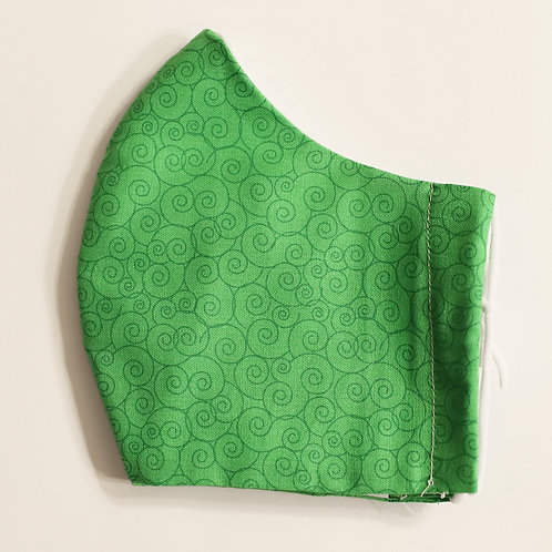 Vivid Green Swirls