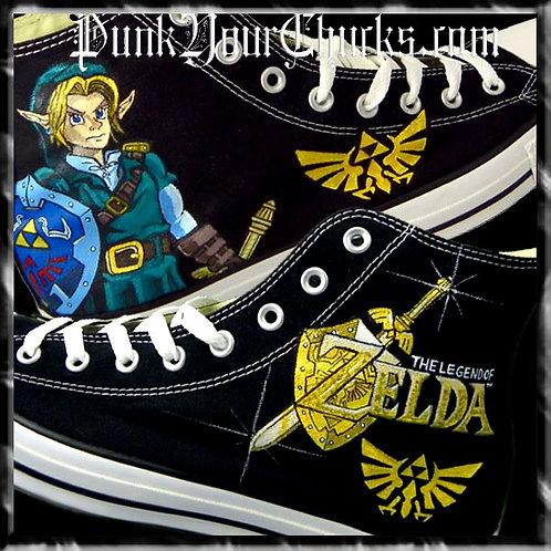 Zelda Custom Converse Sneakers