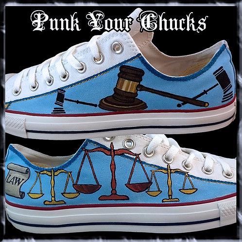Legal Law Custom Converse Sneakers