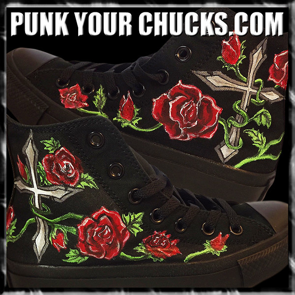 Roses Cross high Chucks main